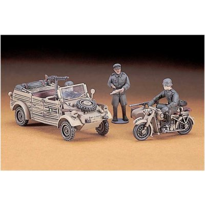 Maquettes véhicules militaires : Kübelwagen et B.M.W. Side Car  - Hasegawa-31112