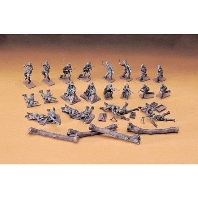 Figurines 2ème Guerre Mondiale : Groupe d'attaque Infanterie allemande - Hasegawa-31130