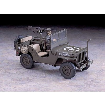 Maquette Jeep Willys MB avec mitrailleuse M2 Cal.50 - Hasegawa-24502