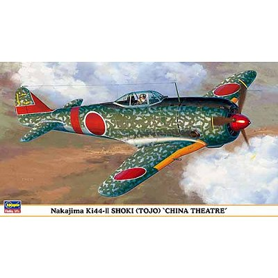 Maquette avion: Nakajima KI44-II Shoki (Tojo) China Theatre - Hasegawa-09825