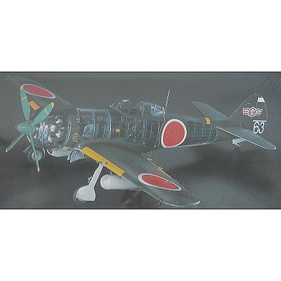 Maquette avion: Nakajima KI84 Type 4 Fighter Hayare Frank Skeleton - Hasegawa-51941
