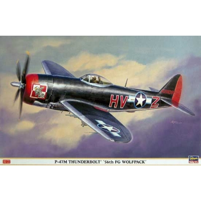 Maquette avion: P-47M 56th FG Wolfpack - Hasegawa-08181