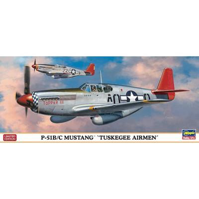 Maquette avion: P-51B/C Tuskegee Airmen - Hasegawa-01957