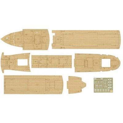 Pont en bois Bois pour maquette bateauHikawa Maru - Hasegawa-72151