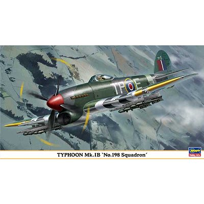 Maquette avion: Typhoon Mk.IB N°198 Squadron - Hasegawa-09862