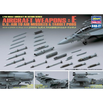 Accessoires militaires : Armement avion 1/72 : US Aircraft Weapons E - Hasegawa-36117