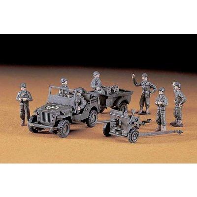 Maquette Jeep U.S. Willys M.B./Cargo/37mm Gun - Hasegawa-31101
