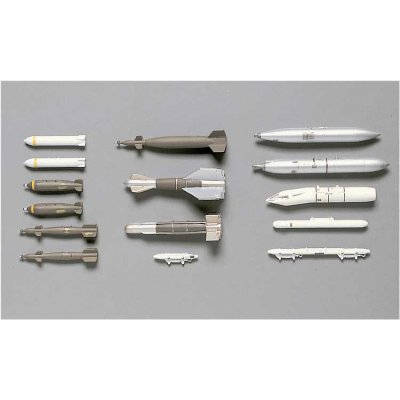 Accessoires militaires : Armement avion 1/72 : U.S. Guided Bombs & Gun Pods - Hasegawa-35002