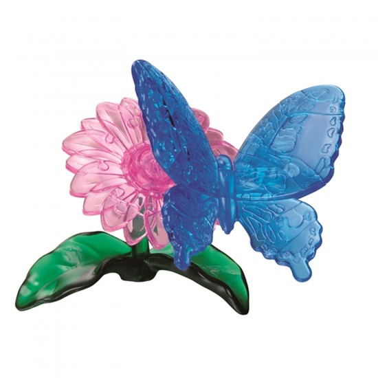 Puzzle 3D : 38 pièces : Papillon sur sa fleur - RDP-PO-59125