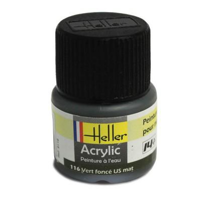 116 - Vert foncé US mat - Heller-9116