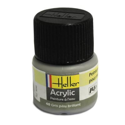 40 - Gris pâle brillant - Heller-9040