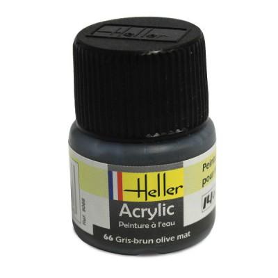 66 - Gris- brun olive mat - Heller-9066