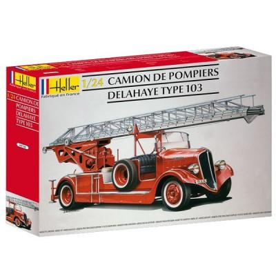 Maquette Camionde pompier Bonneville Delahaye type 103 - Heller-80780