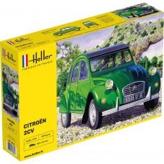 Maquette voiture: Citroën 2 CV verte