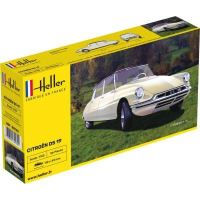 Maquette voiture: Citroën DS 19 blanche - Heller-80162