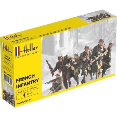 Figurines 2ème Guerre Mondiale : Infanterie française - Heller-49602