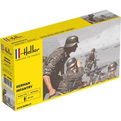 Figurines 2ème Guerre Mondiale : Infanterie Allemande - Heller-49605