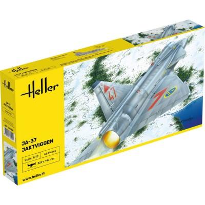 Maquette avion: JA 37 Jaktviggen - Heller-80309