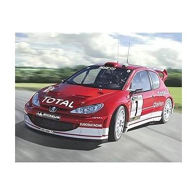 Maquette voiture : Kit complet : Peugeot 206 WRC '03 - Heller-50752