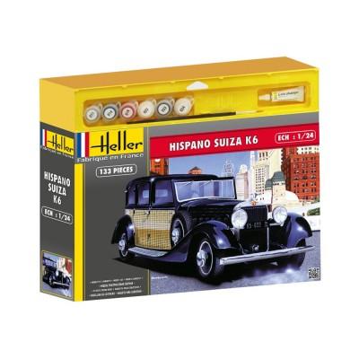 kit avec peinture pour maquette voiture hispano suiza k6 heller rue des maquettes. Black Bedroom Furniture Sets. Home Design Ideas
