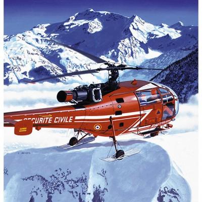 Maquette hélicoptère: Kit complet: Alouette III Sécurité Civile - Heller-50289