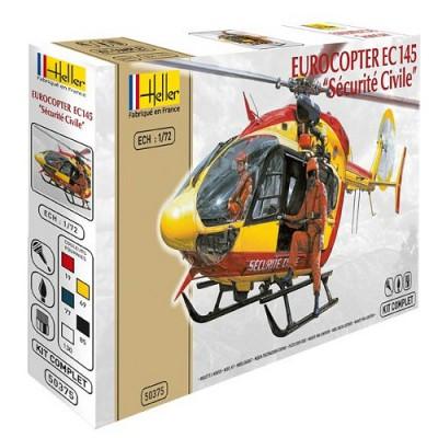 Maquette hélicoptère: Kit complet: Eurocopter EC 145 Sécurité Civile - Heller-50375