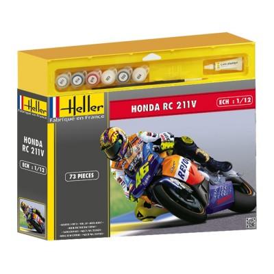Maquette Moto: Kit complet : Honda RC 211 V - Heller-50910