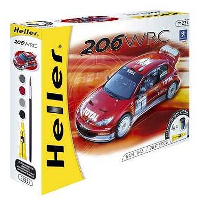 maquette voiture kit complet peugeot 206 wrc 39 03 jeux et jouets heller avenue des jeux. Black Bedroom Furniture Sets. Home Design Ideas