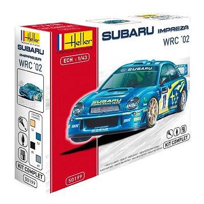 Maquette voiture : Kit complet : Subaru Impreza WRC '02 - Heller-50199