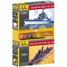 Lot de 2 maquettes : Croiseur de Grasse + Fregate Lance-missiles Sufren