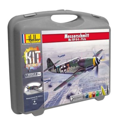 Maquette avion : Mallette Messerschmitt Me109 K-4 et piste - Heller-60229