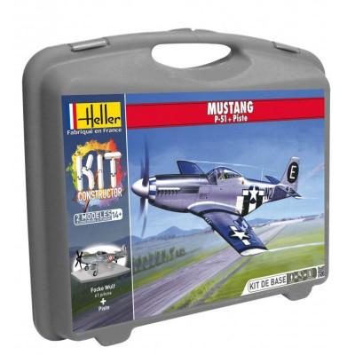 Maquette avion : Mustang P-51D - Heller-60268