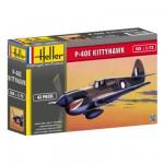 Maquette avion P-40E KITTYHAWK