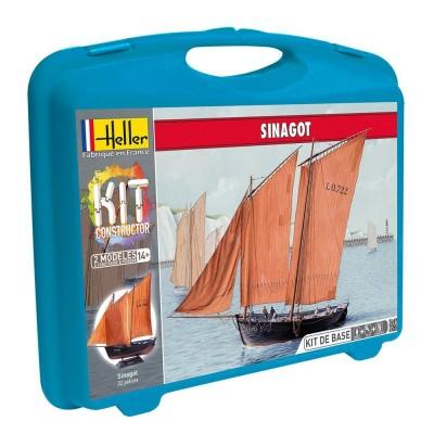 Maquette bateau : Mallette voilier Sinagot - Heller-60605