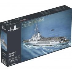 Maquette bateau Porte-hélicoptères Jeanne d'Arc