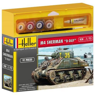 Maquette char : Kit complet : Sherman - Heller-49892P