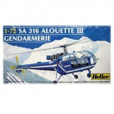Maquette hélicoptère : Alouette III Gendarmerie