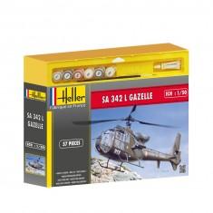 Maquette Hélicoptère : S.A. 342 Gazelle et accessoires de peinture