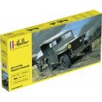 Maquette Jeep Willys Overland et remorque: 1/35