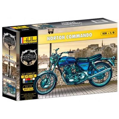 maquette moto norton 750 commando heller rue des maquettes. Black Bedroom Furniture Sets. Home Design Ideas