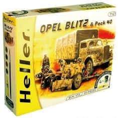 Maquette camion Opel Blitz et canon Pak 40: Kit complet