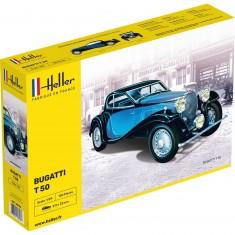 Maquette voiture : Bugatti T.50 bleue