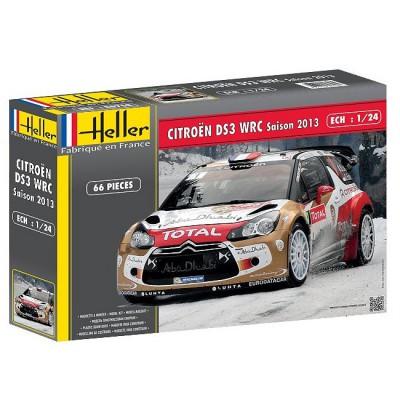 Maquette voiture : Citroën DS3 WRC Saison 2013 - Heller-80758