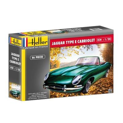 Maquette Voiture : Jaguar type E 3L8 OTS Cabriolet - Heller-80719