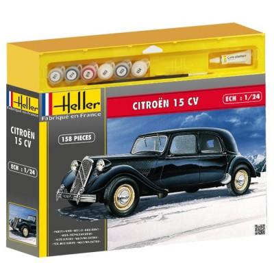Maquette voiture : Kit complet : Citroën 15 CV - Heller-50763P