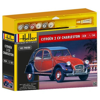 maquette voiture kit complet citro n 2 cv charleston heller rue des maquettes. Black Bedroom Furniture Sets. Home Design Ideas