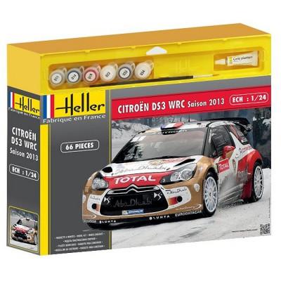 Maquette voiture : Kit complet : Citroën DS3 WRC'13 - Heller-50758P