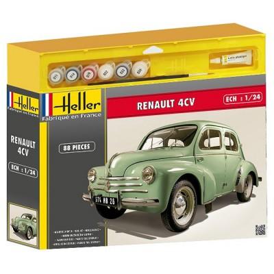 maquette voiture kit complet renault 4 cv jeux et jouets heller avenue des jeux. Black Bedroom Furniture Sets. Home Design Ideas