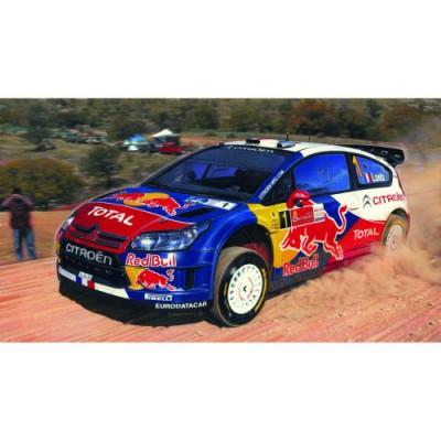 Maquette voiture : Kit complet 35 pièces : Citroën C4 WRC '10 - Heller-50117