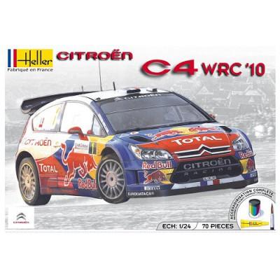 Maquette voiture : Kit complet 63 pièces : Citroën C4 WRC '10 - Heller-50756